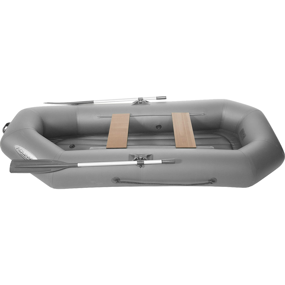 Лодка гребная ПВХ Лоцман С-260 ВНД Серый