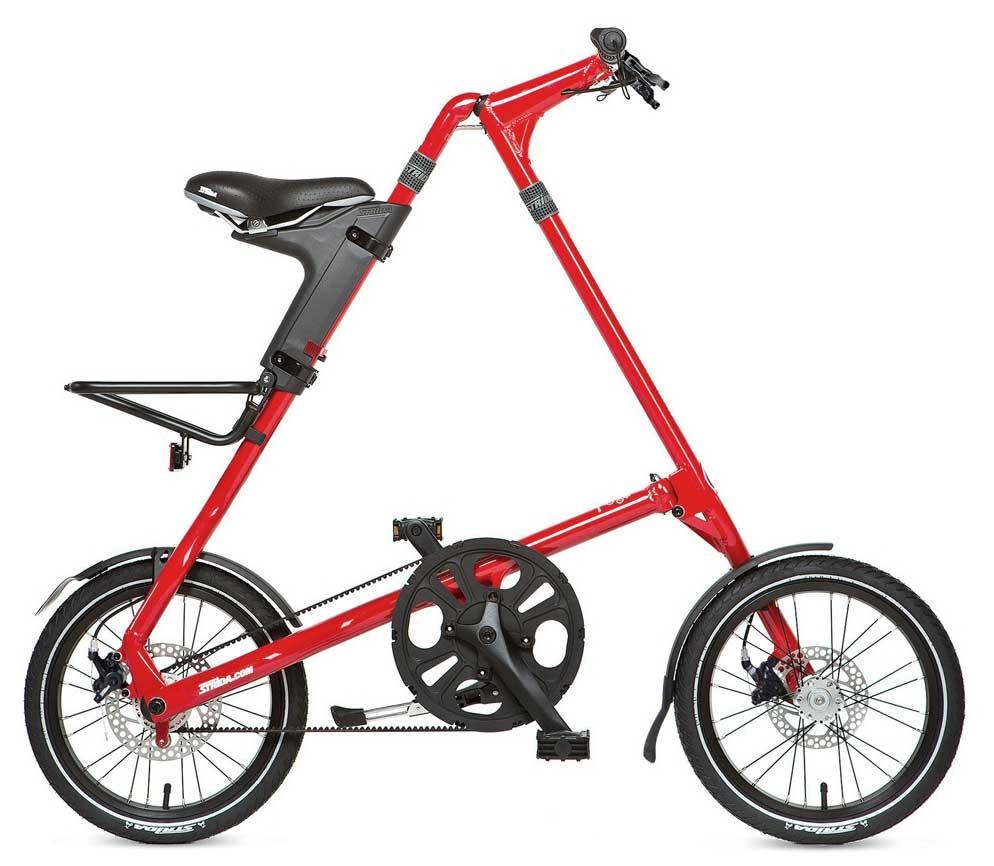 Велосипед Strida 5.2 (2017) красный O/SСкладные велосипеды<br><br><br>Бренд: Strida