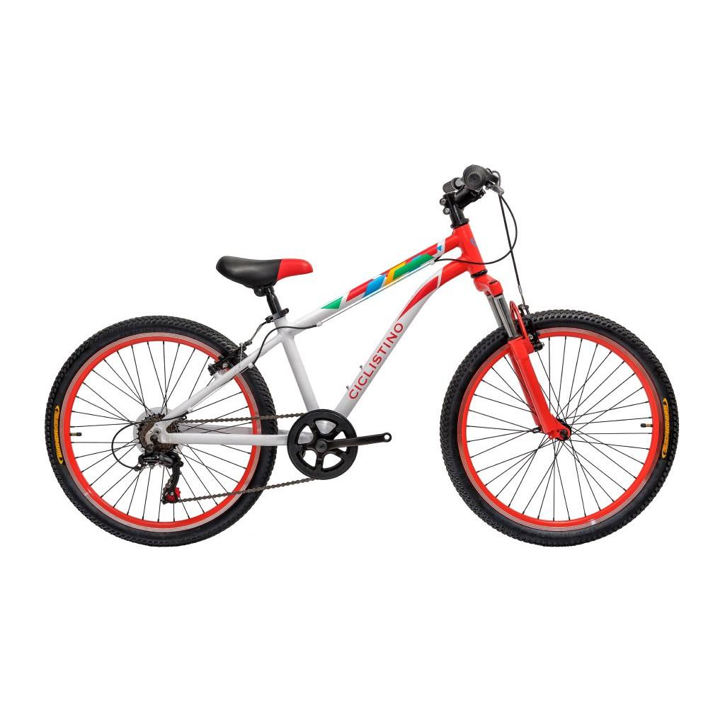 Подростковый велосипед Ciclistino Rider 24 бело-красный
