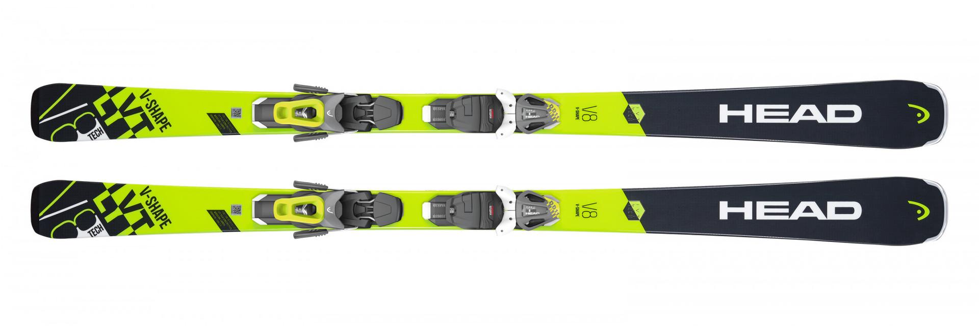 Горные лыжи Head V-Shape V8 + Крепление PR 11 GW размер 149 (2019)