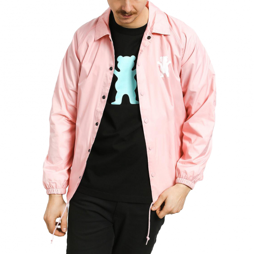 Ветровка GRIZZLY OG BEAR COACHES JACKET Pink / White