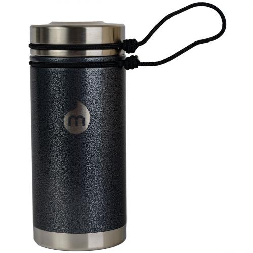 Термобутылка для воды MIZU V5 Gray Hammer Paint w/ SST Lid & Rope Leash one size