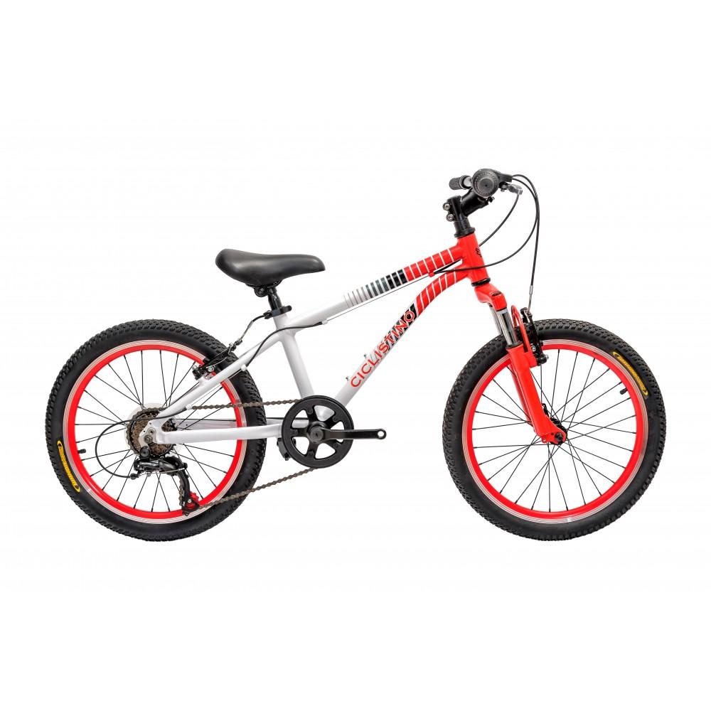 Детский велосипед Ciclistino Rider 20 бело-красный