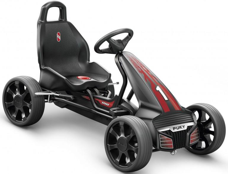 Веломобиль Puky F550 3530 black черныйВеломобили<br>Самая стильная и надежная педальная машина (Go-Cart) со спортивным спойлером и защитным бампером для детей от 4 лет.<br><br>Бренд: Puky
