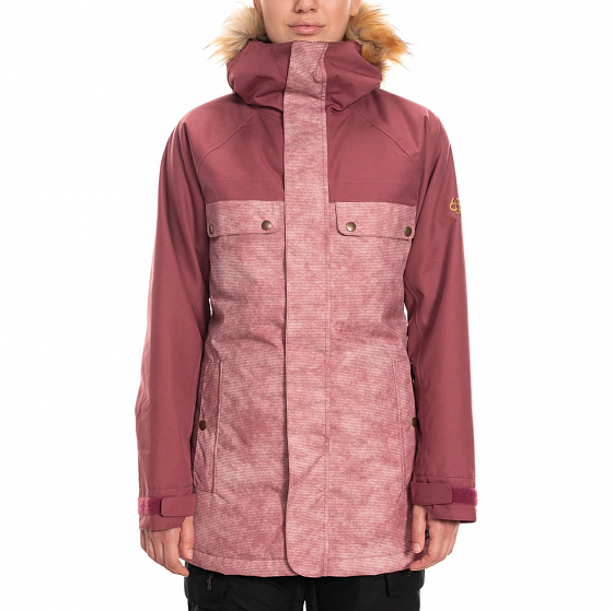 Куртка 686 WMS DREAM INSULATED JACKET CRUSHED BERRY WASH COLORBLOCK