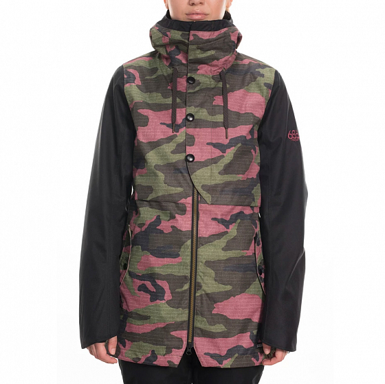 Куртка 686 WMS CASCADE SHELL JACKET CRUSHED BERRY CAMO COLORBLOCK
