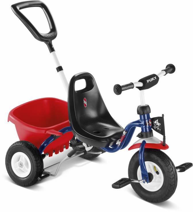 Трехколесный велосипед Puky CAT 1L 2378 Capt`n Sharky Капитан Шаркиот 1 до 3 лет (12-14 колеса)<br>безопасный велосипед с накачиваемыми шинами, на котором ребенку 2-4 лет удобно самому крутить педали.<br><br>Бренд: Puky