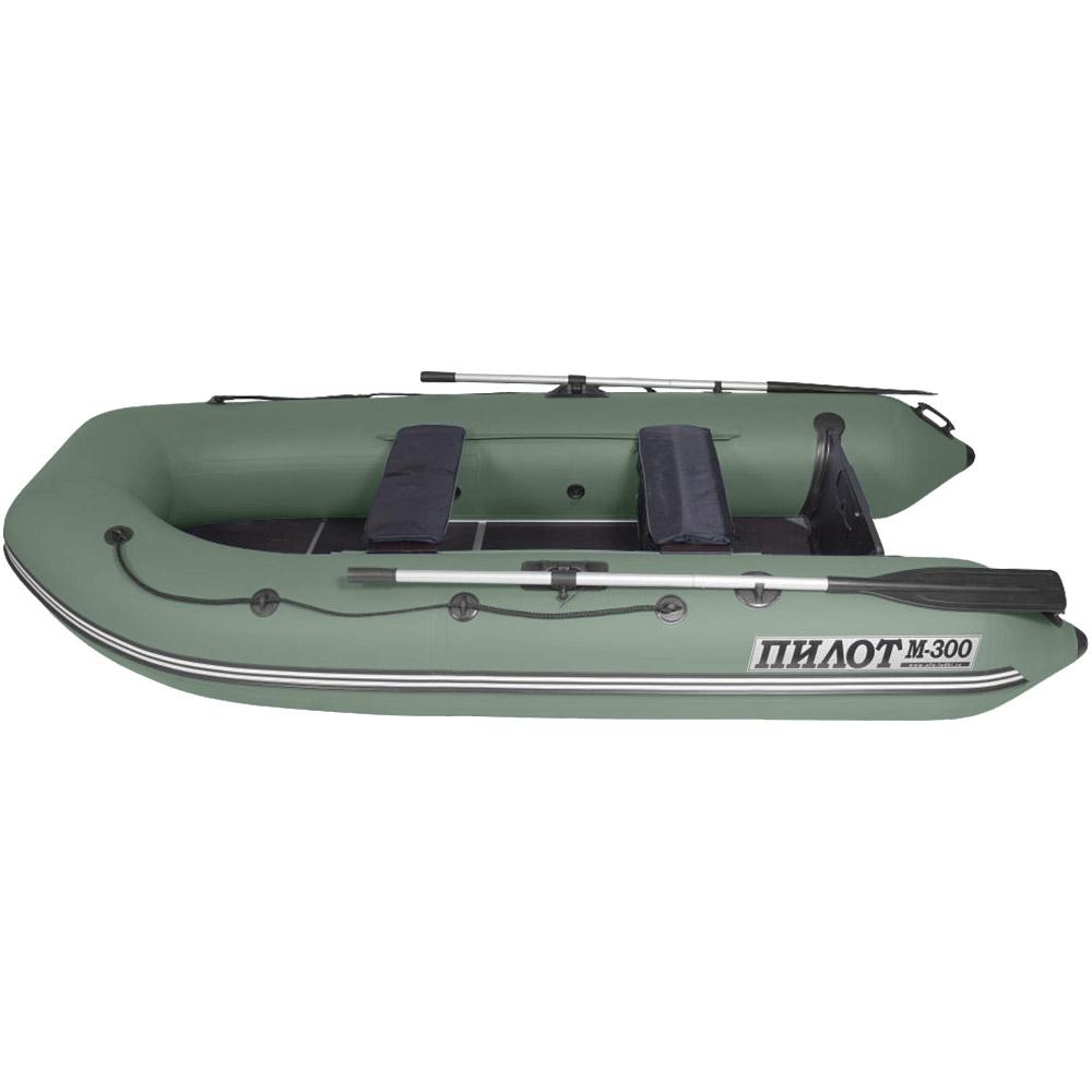 Лодка моторно -гребная ПВХ Пилот М-300 Зеленый